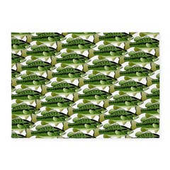 Largemouth Bass Pattern 5'x7'Area Rug