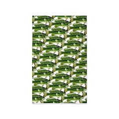 Largemouth Bass Pattern Area Rug