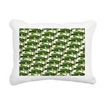 Largemouth Bass Pattern Rectangular Canvas Pillow