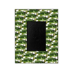 Largemouth Bass Pattern Picture Frame