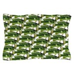 Largemouth Bass Pattern Pillow Case