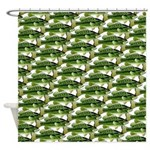 Largemouth Bass Pattern Shower Curtain