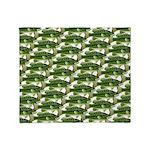 Largemouth Bass Pattern Throw Blanket