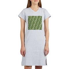 Largemouth Bass Pattern Women's Nightshirt
