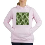 Largemouth Bass Pattern Women's Hooded Sweatshirt