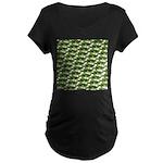 Largemouth Bass Pattern Maternity T-Shirt