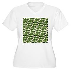 Largemouth Bass Pattern Plus Size T-Shirt