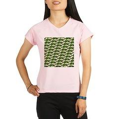 Largemouth Bass Pattern Performance Dry T-Shirt