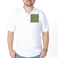 Largemouth Bass Pattern Golf Shirt