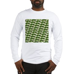 Largemouth Bass Pattern Long Sleeve T-Shirt