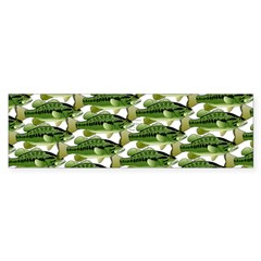Largemouth Bass Pattern Bumper Bumper Sticker