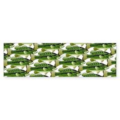 Largemouth Bass Pattern Bumper Bumper Sticker