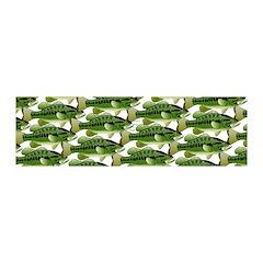 Largemouth Bass Pattern Wall Decal