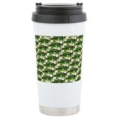 Largemouth Bass Pattern Travel Mug