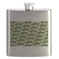 Largemouth Bass Pattern Flask