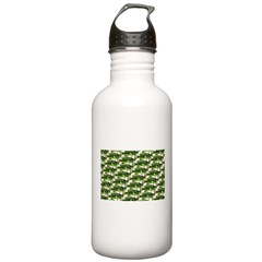 Largemouth Bass Pattern Water Bottle