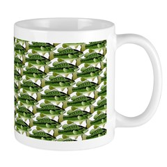 Largemouth Bass Pattern Mugs
