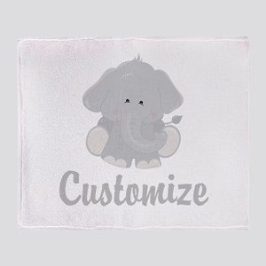 Baby Elephant Throw Blanket
