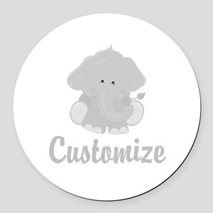 Baby Elephant Round Car Magnet