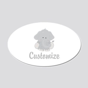 Baby Elephant 20x12 Oval Wall Decal