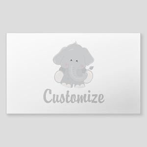 Baby Elephant Sticker (Rectangle)