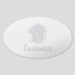 Baby Elephant Sticker (Oval)