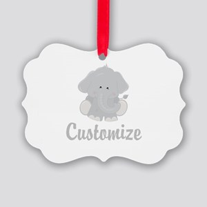 Baby Elephant Picture Ornament