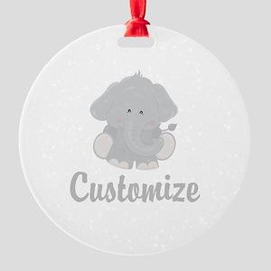 Baby Elephant Round Ornament