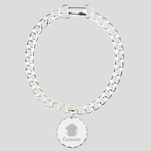 Baby Elephant Charm Bracelet, One Charm