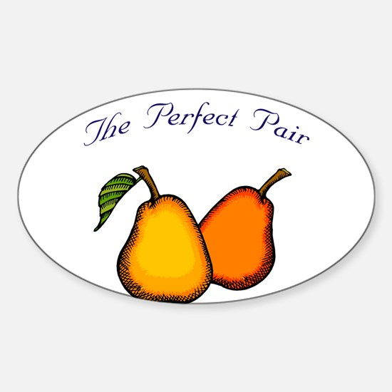 The Perfect Pair Oval Decal