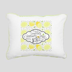 Recipe Southern Lemonade Rectangular Canvas Pillow