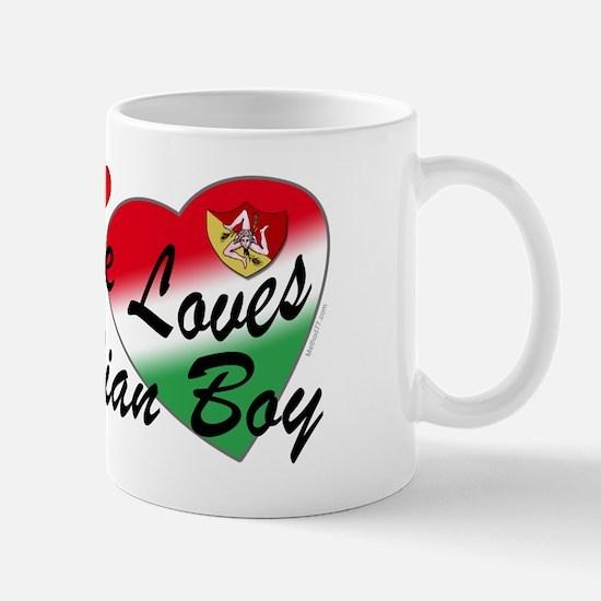 Loves a Sicilian Boy Mug