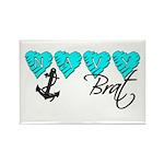 Navy Brat hearts ver2 Rectangle Magnet