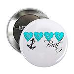 Navy Brat hearts ver2 Button