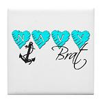 Navy Brat hearts ver2 Tile Coaster