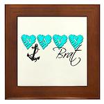 Navy Brat hearts ver2 Framed Tile