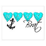 Navy Brat hearts ver2 Small Poster