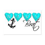 Navy Brat hearts ver2  Mini Poster Print