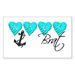 Navy Brat hearts ver2 Rectangle Sticker