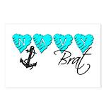 Navy Brat hearts ver2 Postcards (Package of 8)