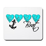 Navy Brat hearts ver2 Mousepad