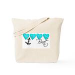 Navy Brat hearts ver2  Tote Bag