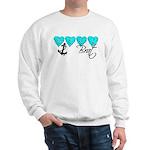 Navy Brat hearts ver2 Sweatshirt