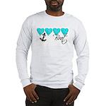 Navy Brat hearts ver2 Long Sleeve T-Shirt