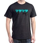 Navy Brat hearts ver2 Dark T-Shirt