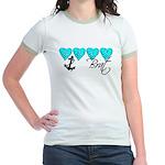 Navy Brat hearts ver2 Jr. Ringer T-Shirt