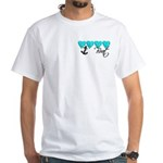 Navy Brat hearts ver2 White T-Shirt