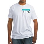 Navy Brat hearts ver2 Fitted T-Shirt