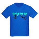 Navy Brat hearts ver2 Kids Dark T-Shirt