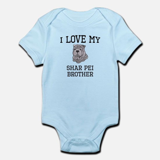 I Love My Shar Pei Brother Body Suit
